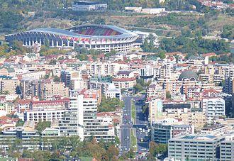 Philip II Arena - Image: Skopje bulevard kliment ohridski