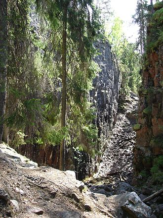 Småland - An image from a canyon in the forested Småland.