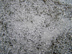 Ice pellets - An accumulation of ice pellets