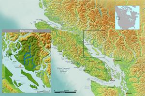 Tla'amin Nation - Map of Sliammon tribal territory