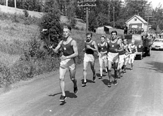 Olympic flame - Olympic torch relay, 1952