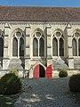 Soissons (02), abbaye Saint-Jean-des-Vignes, réfectoire, vue partielle depuis l'ouest 2.jpg