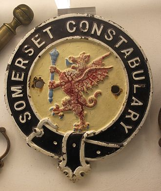 Avon and Somerset Constabulary - Somerset Constabulary Badge on display at King John's Hunting Lodge, Axbridge