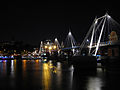 South footbridge flanking Hungerford Bridge at night.jpg