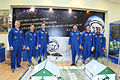 Soyuz TMA-04M prime and backup crews at the Korolev Museum.jpg