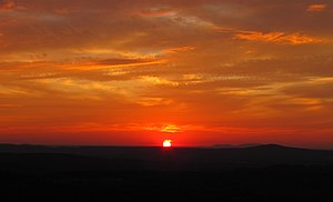 White County, Tennessee - Sunset over White County, viewed from US-70 at the edge of the Cumberland Plateau