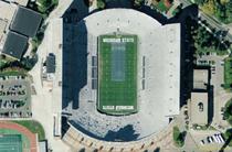 Spartan Stadium, East Lansing satellite view.png