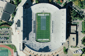 Spartan Stadium, East Lansing satellite view.png