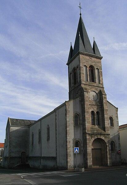 Église de Saint-André-de-la-Marche dans le Maine-et-Loire.