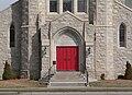 St. Mark's (Hastings, Nebraska) W entrance.JPG