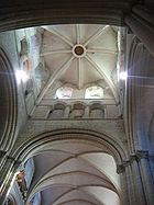 At Saint-Etienne, Caen, both the nave and the tower are covered by ribbed vaults. c.1080.