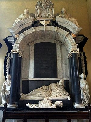 Thomas Coventry, 1st Baron Coventry - Monument to the 1st Lord Coventry in the church at Croome Court