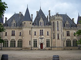 Michel de Montaigne - Château de Montaigne, a house built on the land once owned by Montaigne's family; his original family home no longer exists, although the tower in which he wrote still stands