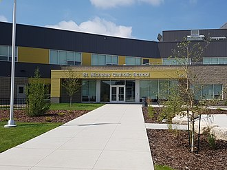 Evergreen, Saskatoon - Image: St Nicholas Catholic School (Saskatoon)