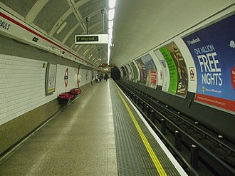 St. Paul's tube station - Image: St Paul's stn westbound look east