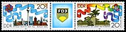 Stamps of Germany (DDR) 1989, MiNr Zusammendruck 3248, 3249