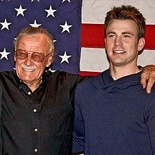 Stan Lee y Chris Evans...
