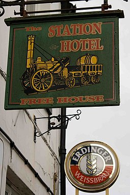 Station Hotel pub sign - geograph.org.uk - 1295972
