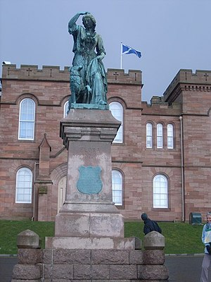 Flora MacDonald - Statue in front of Inverness Castle