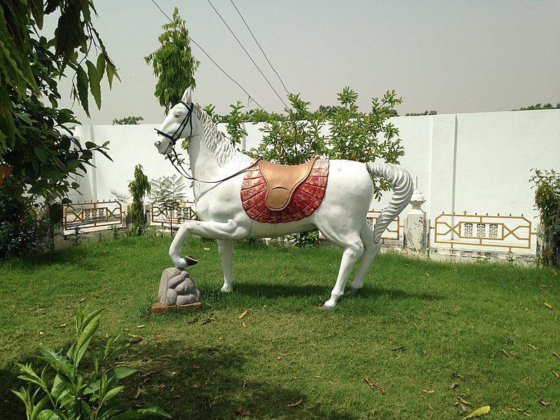 File:Statue of a horse at Gurdwara Lohgarh Sahib.JPG