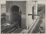 Steam train on south west track of Harbour Bridge, 1932 (8283758724).jpg