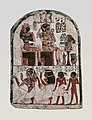 Stela of the Sculptor Qen worshipping Amenhotep I and Ahmose-Nefertari MET 59.93 EGDP010148.jpg