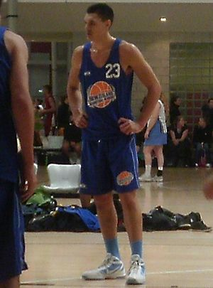 Steven Adams - Adams playing in an intercity basketball game in Wellington, New Zealand