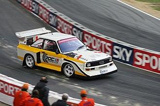 Race of Champions - Two-time winner Stig Blomqvist driving an Audi Quattro S1.