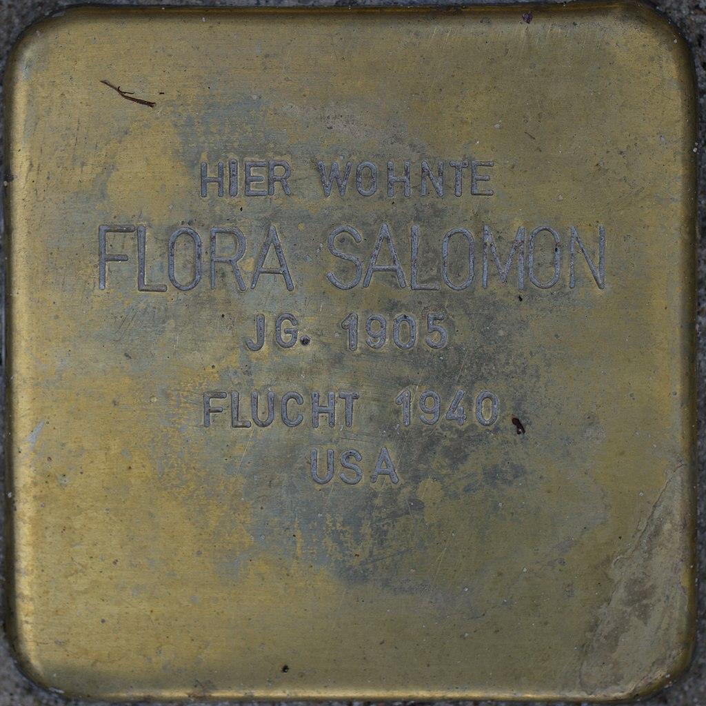 Stolperstein - Salomon, Flora (2016).jpg