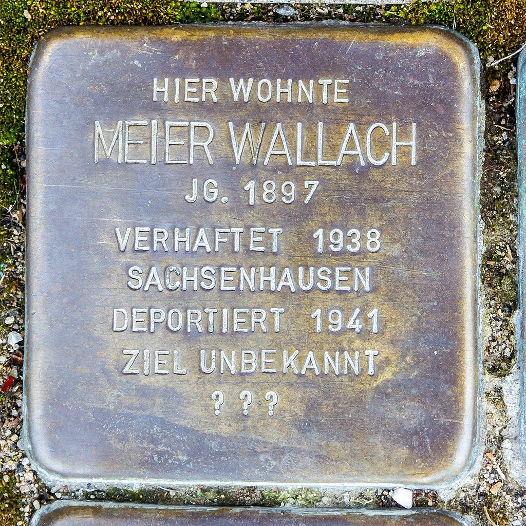 Stolperstein Meier Wallach