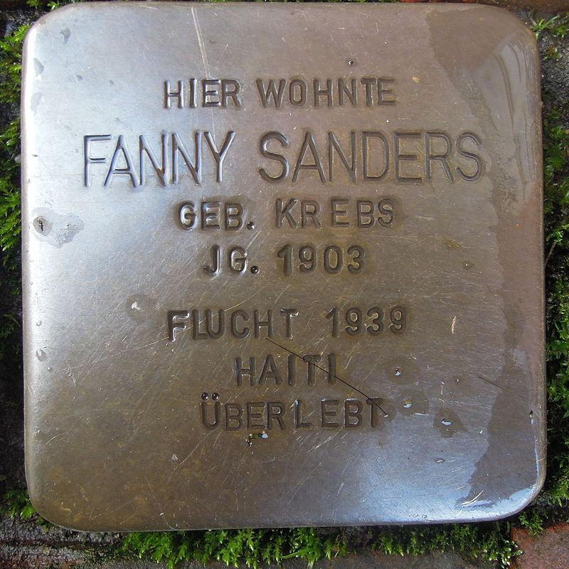 Stolperstein für Fanny Sanders geb. Krebs