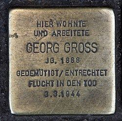 Stolperstein torstr 223 (mitte) georg gross