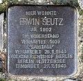 Stolperstein Transvaalstr 43 (Weddi) Erwin Seutz.jpg
