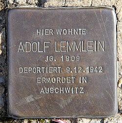 Photo of Adolf Lemmlein brass plaque