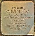 Stolperstein für Balkanyi Dora (Lendava).jpg