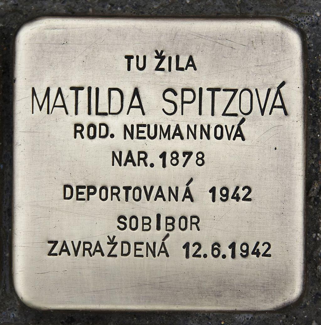 Stolperstein für Matilda Spitzova.JPG