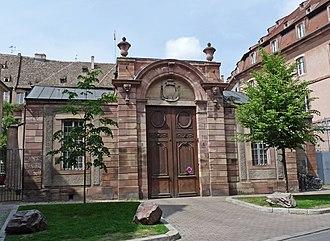 Episcopal Palace (Strasbourg) - Image: Strasbourg Palais épiscopal Rue du Parchemin