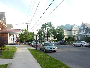 Mechanicville, New York - A typical residential street in Mechanicville.