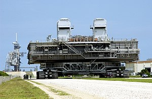 Mobile Launcher Platform - An MLP being carried by a crawler-transporter