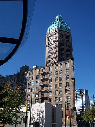L. D. Taylor - The Sun Tower at Pender and Beatty Streets, erected by L. D. Taylor as the headquarters for his Vancouver World newspaper.