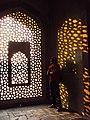 Sunlight from Mihrab at Humayun's Tomb.JPG