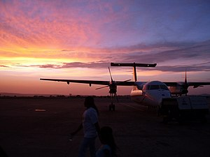 Sunset at Mombasa airport