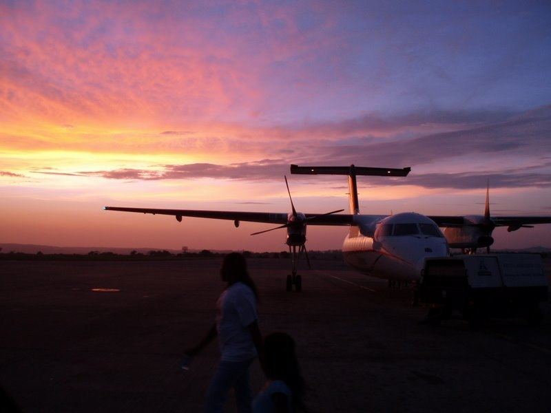 Sunset at Mombasa airport