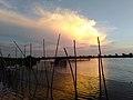 Sunset in a fish pen in Obando, Bulacan.jpg