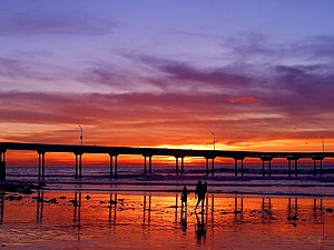 Ocean Beach Pier at sunset.
