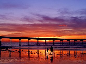 Ocean Beach, San Diego - The Ocean Beach Pier at sunset