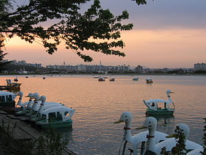 Suseong District - Sunset on Suseong Lake, April 24, 2005.