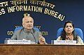 Sushil Kumar Shinde holding a press conference to present the Report Card of the Ministry of Home Affairs for the month of November, 2012, in New Delhi. The Principal Director General (M&C), Press Information Bureau.jpg