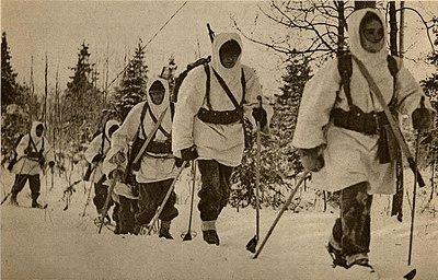 Svenska soldater som slogs på finländarnas sida, vid Salla