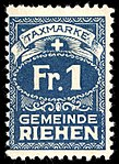 Switzerland Riehen 1907 revenue 1Fr - 2A.jpg